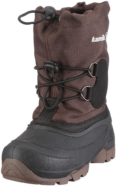 Kamik Unisex-Kinder Snowcoast Schneestiefel, Schwarz (Blk-Black), 28 EU