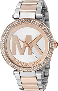 03c3acefa00a Amazon.com  Michael Kors Women s Parker Two-Tone Watch MK6176 ...