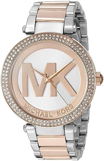 Michael Kors Reloj Analógico para Mujer de Cuarzo con Correa en Acero Inoxidable MK6314: Michael Kors: Amazon.es: Relojes