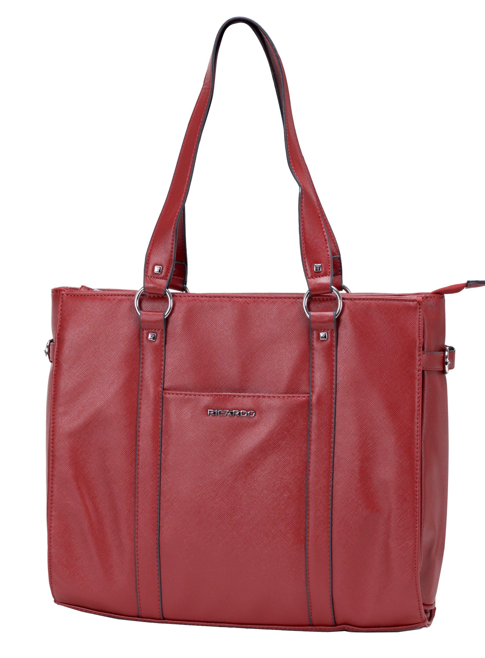 Ricardo Beverly Hills Luggage Fashion Business Tote 2, Cerise, One Size