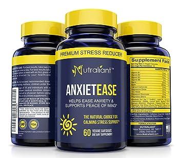 #1 Anxiety Relief Supplements - Stress Relief Pills - B Vitamins, GABA,  Ashwagandha, Chamomile +