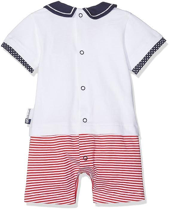 Tutto Piccolo Mónaco, Pelele para Bebés, (Blanco/Rojo) 68 (Tamaño del Fabricante:6.M): Amazon.es: Ropa y accesorios