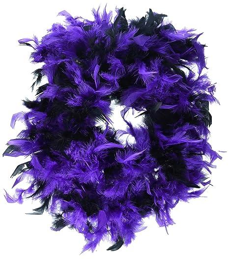Loftus International Star Power 2 Color Feather Vegas Boa Purple Black One