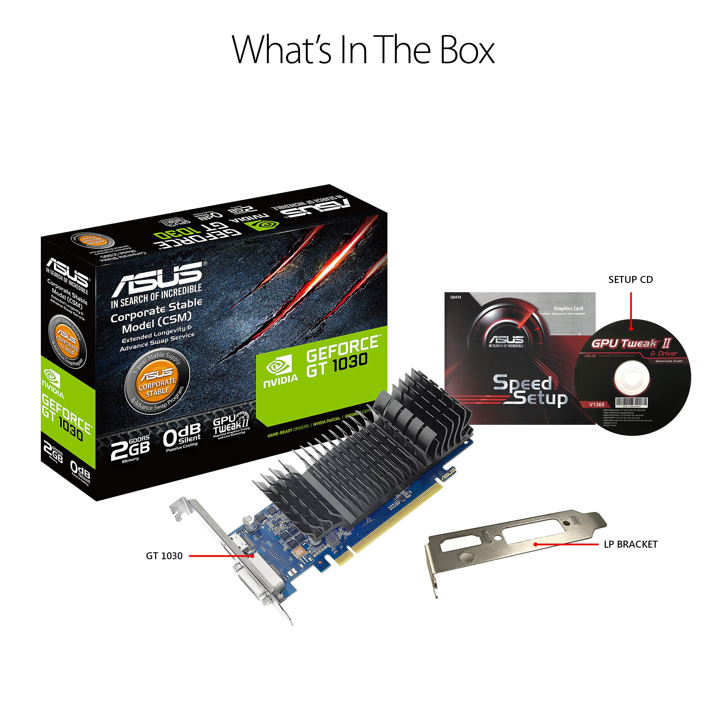 ASUS GeForce GT 1030 2GB GDDR5 HDMI DVI Graphics Card (GT1030-2G-CSM) by Asus (Image #5)