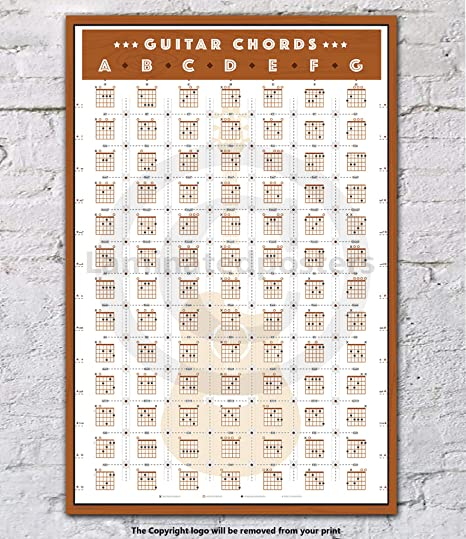 Guitar Chords HUGE LAMINATED Music POSTER: Amazon.co.uk: Kitchen & Home