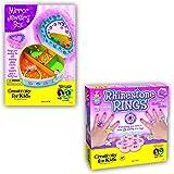 Rhinestone Rings and Mirrored Jewellery Box Kits
