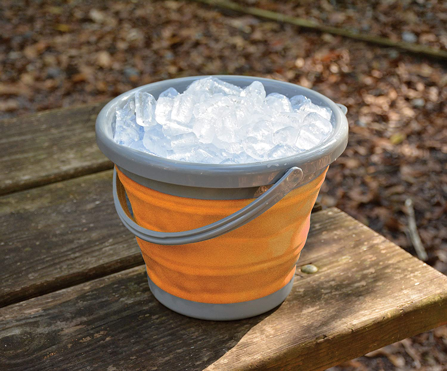UST FlexWare Collapsible Bucket with Strong BPA Free Design and Sturdy Handle for Hiking Flexible Compact Backpacking Camping and Outdoor Survival