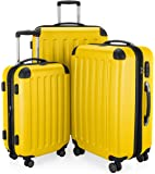 HAUPTSTADTKOFFER Spree Luggages Set Suitcase Set Hardside Spinner Trolley Expandable(20', 24' & 28') TSA Yellow