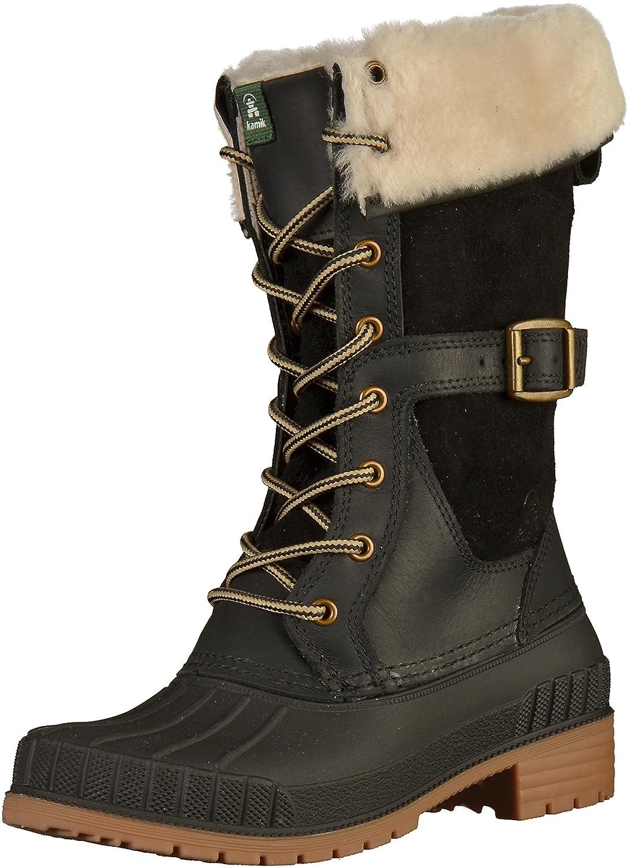 Kamik Women's SiennaF Waterproof Winter Boot B01MU5TE4Z 5 B(M) US|Black