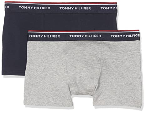 6c94abb44f Tommy Hilfiger 2-Pack Classic Logo Boys Boxer Trunks, Grey/Navy Age 6