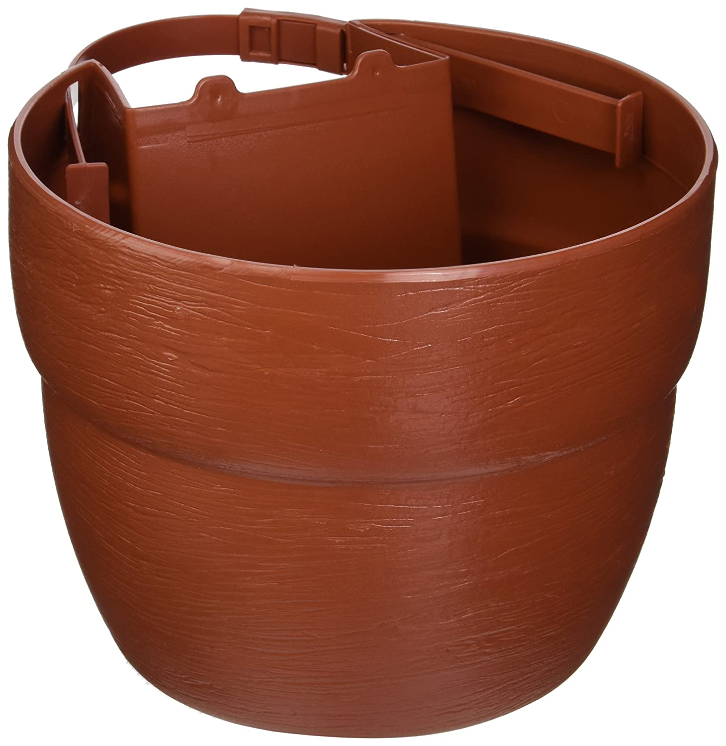 EMSCO Bloomers Post Planter – Both Permanent and Temporary Installation Options – Garden In Untraditional Spaces – Terra Cotta