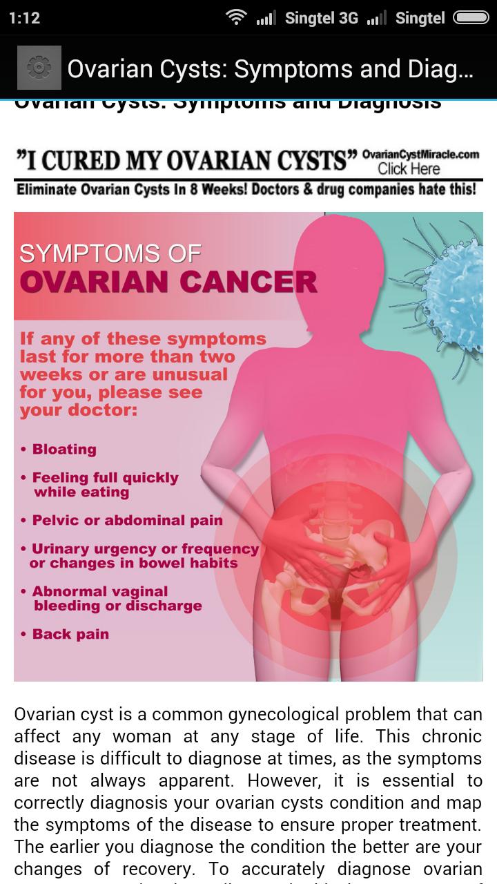 Symptoms Of Ovarian Cysts