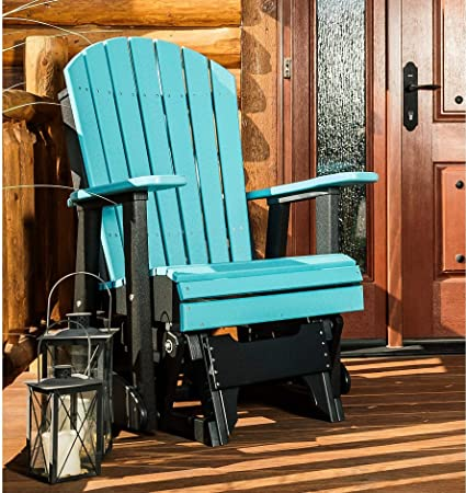 LuxCraft Recycled Plastic 2 Adirondack Glider Chair