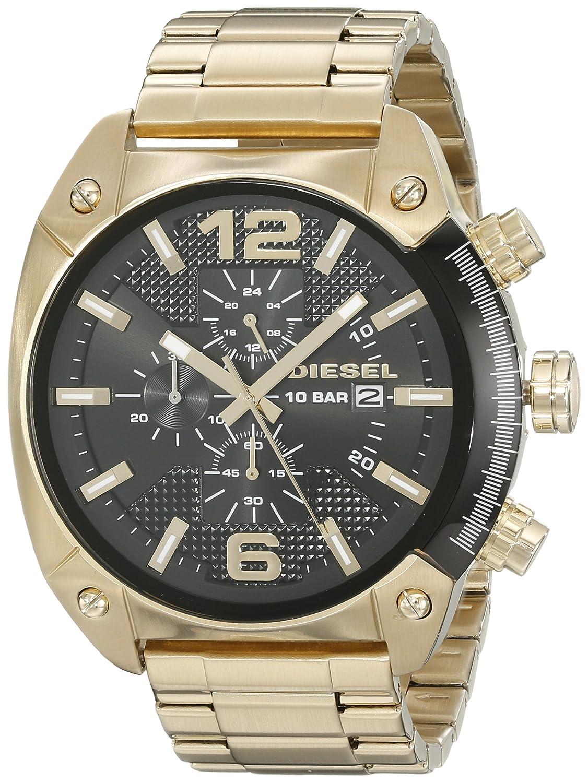 edf30975937f Amazon.com  Diesel Men s DZ4342 Overflow Gold Watch  Diesel  Watches