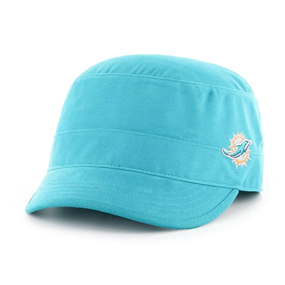 47ba14e3315 Amazon.com   OTS NFL Miami Dolphins Adult Women NFL Shipmate Cadet Military-Style  Adjustable Hat