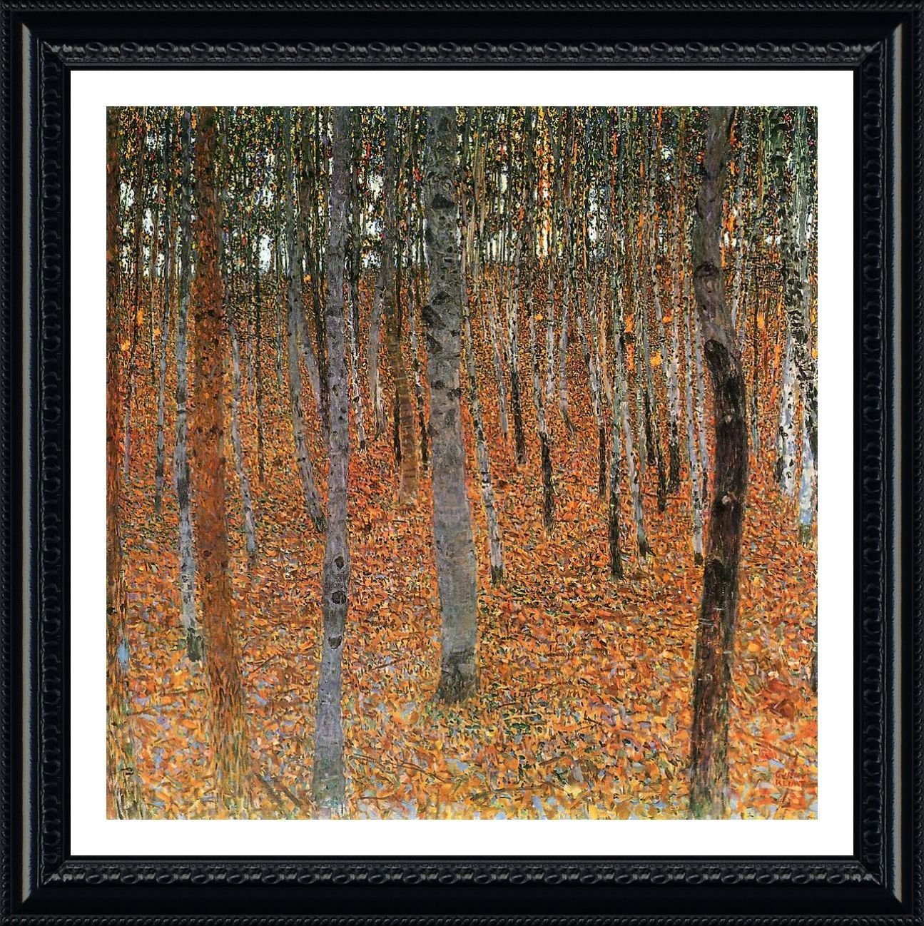 b778965c926 Alonline Art - Forest Gustav Klimt Black FRAMED POSTER (Print on 100%  Cotton CANVAS on foam board) - READY TO HANG