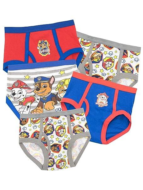 Paw Patrol Ropa Interior para niños La Patrulla Canina - Paquete de 5-18 a