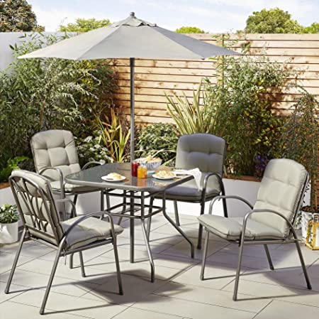 Tesco NEW Tuscany 6 Piece Garden Dining Set Table with 4 Chairs ...