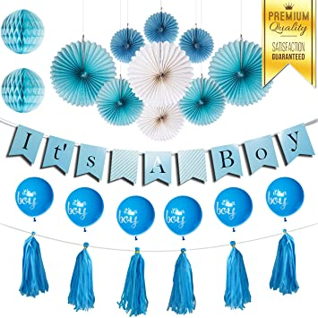 Amazon Enochee Baby Shower Decorations For Boy Its A Boy