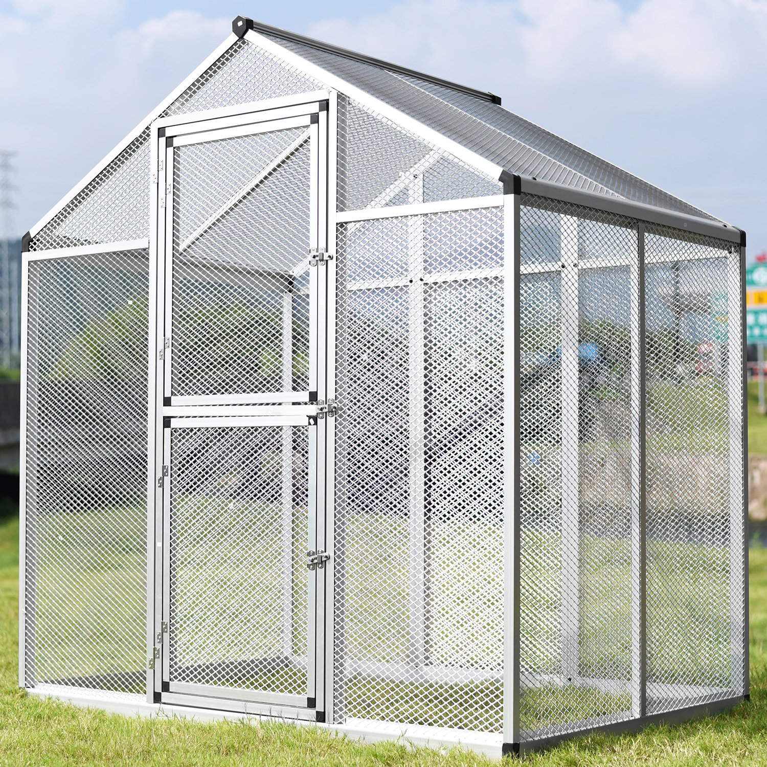 Amazon.com : WALCUT Aluminum Heay Duty Large Bird Cage Aviary Bird ...