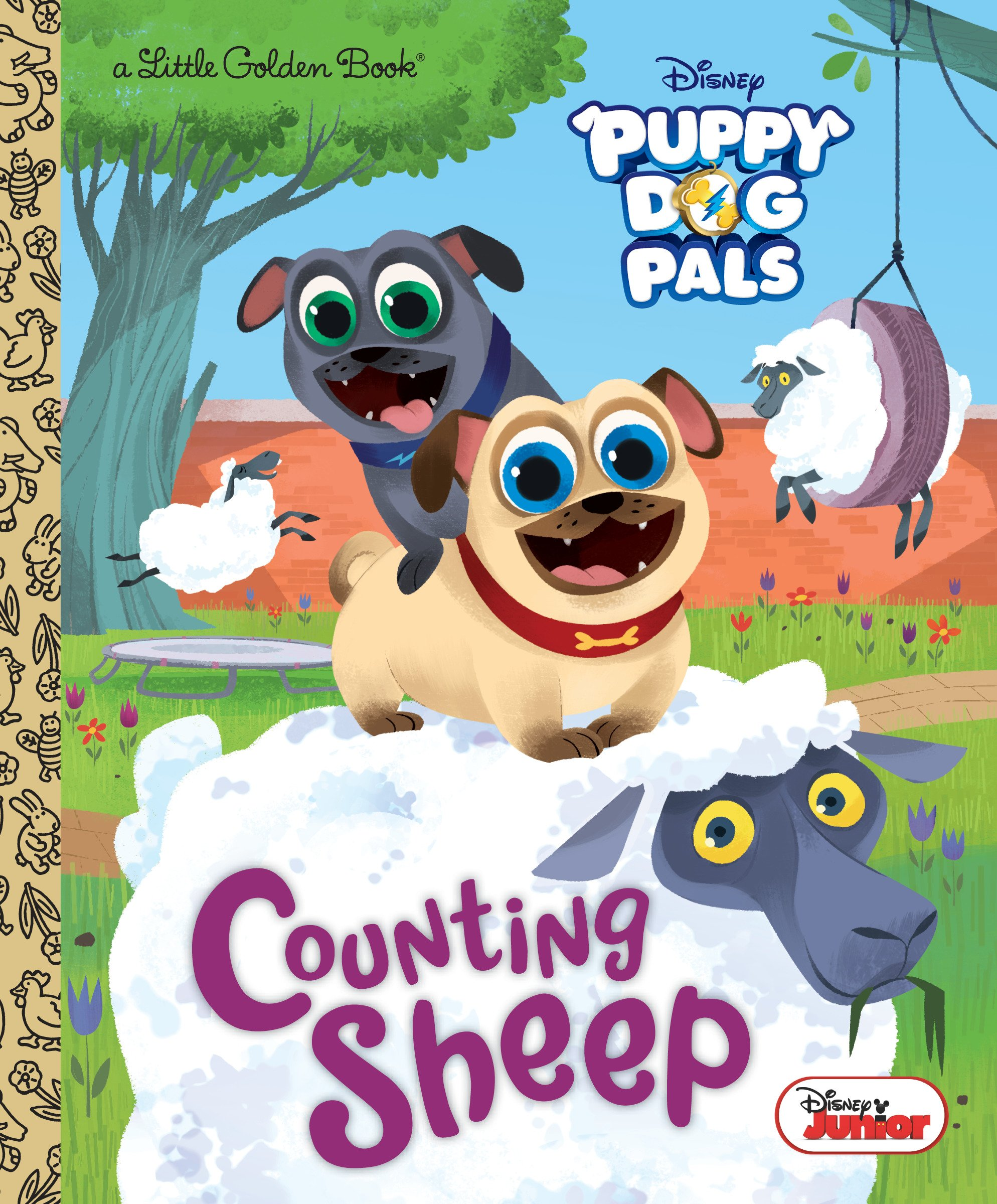 Counting Sheep (Disney Junior Puppy Dog Pals) (Little Golden Book)  Hardcover – January 8, 2019
