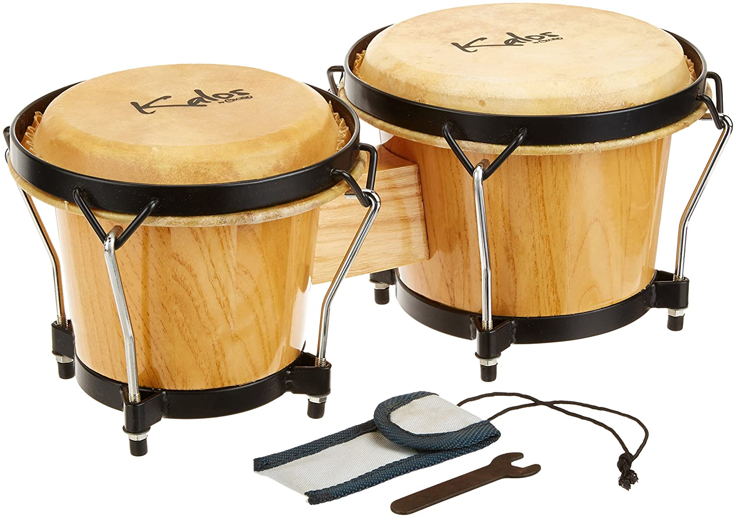 Kalos Natural Oak Wood Bongos - KP_BG67-Oak