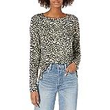 findersKEEPERS Womens Lana Long Sleeve Shirred Snake Skin Mini Dress