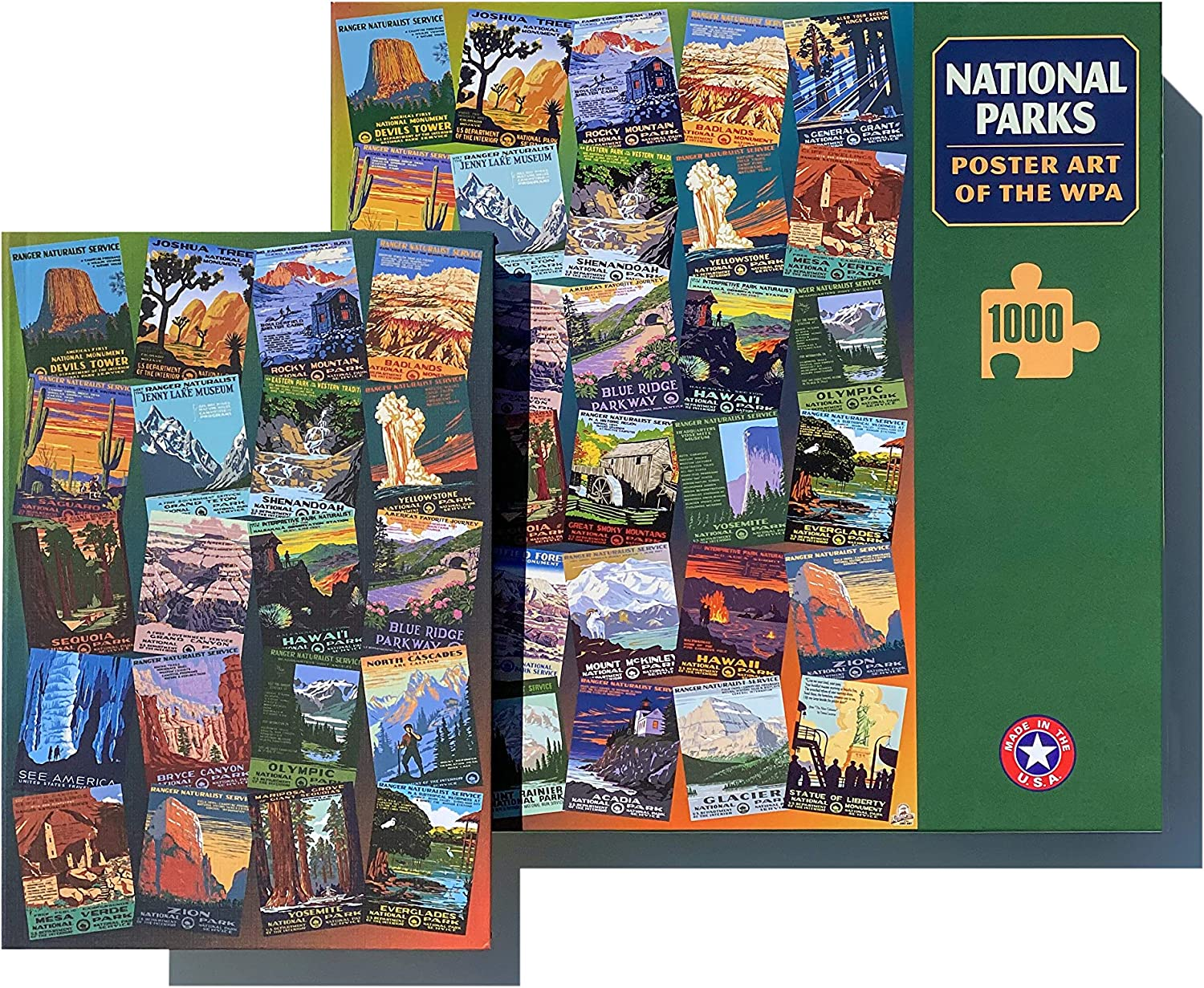 National Parks Poster Art Of The Wpa 1000 Jigsaw Puzzle And National Parks Wpa Journal Sale Priced Bundle 29 99 Printed In Usa Toys Games Www Hapoelb7 Co Il