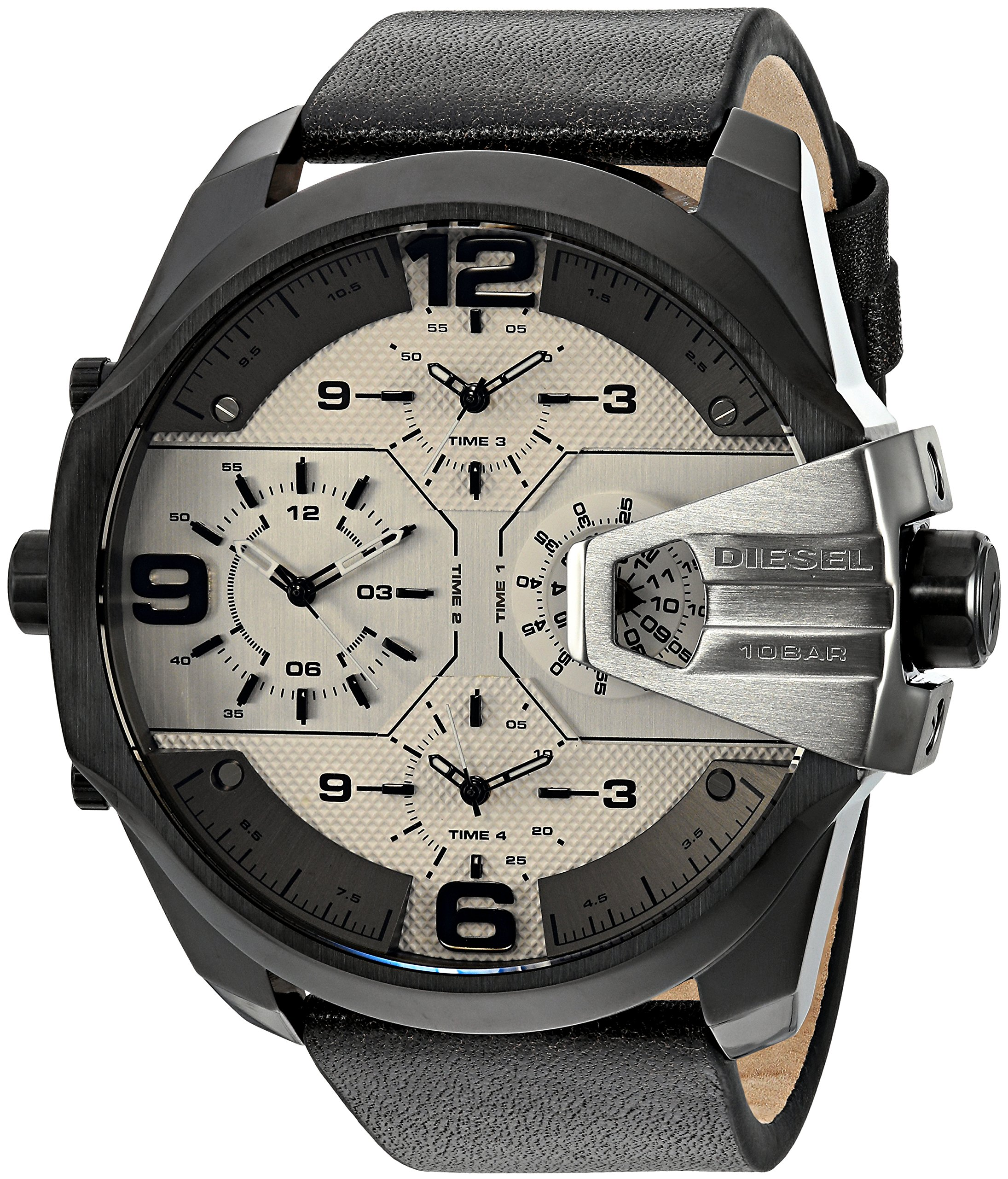 CDM product Diesel Men's Uber Chief Multi-Movement Watch with Aviation Inspired crownguard big image