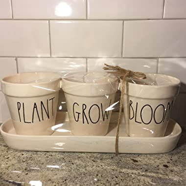 Rae Dunn Pot Set Plant Grow Bloom by Magenta