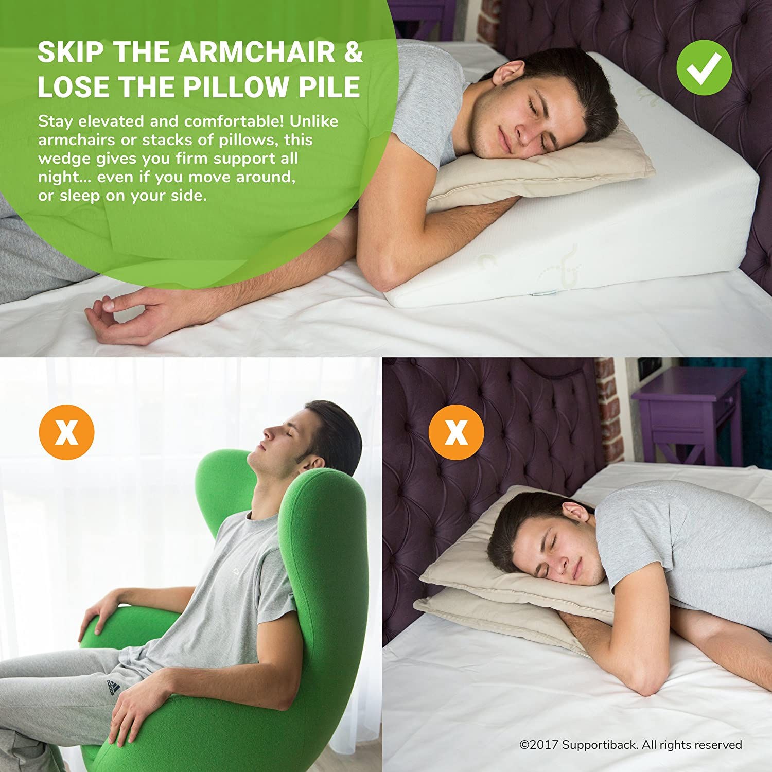 roll wedge pillow bed neck