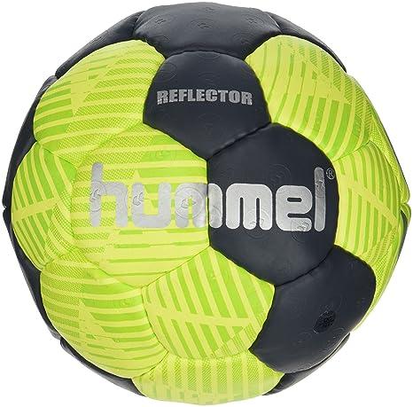 hummel Ballon de Handball Taille 0, 1, 2 ou 3 pour Jeu & Training – Reflector HB – Résine Football Loisirs & Sport – Handball en Jaune & Bleu avec