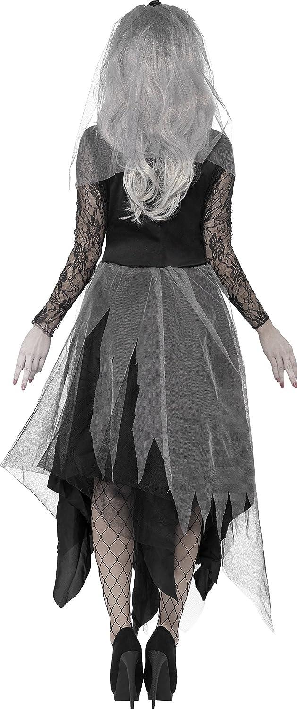 SmiffyS 43729S Disfraz De Novia De Cementerio Con Vestido Y Velo ...