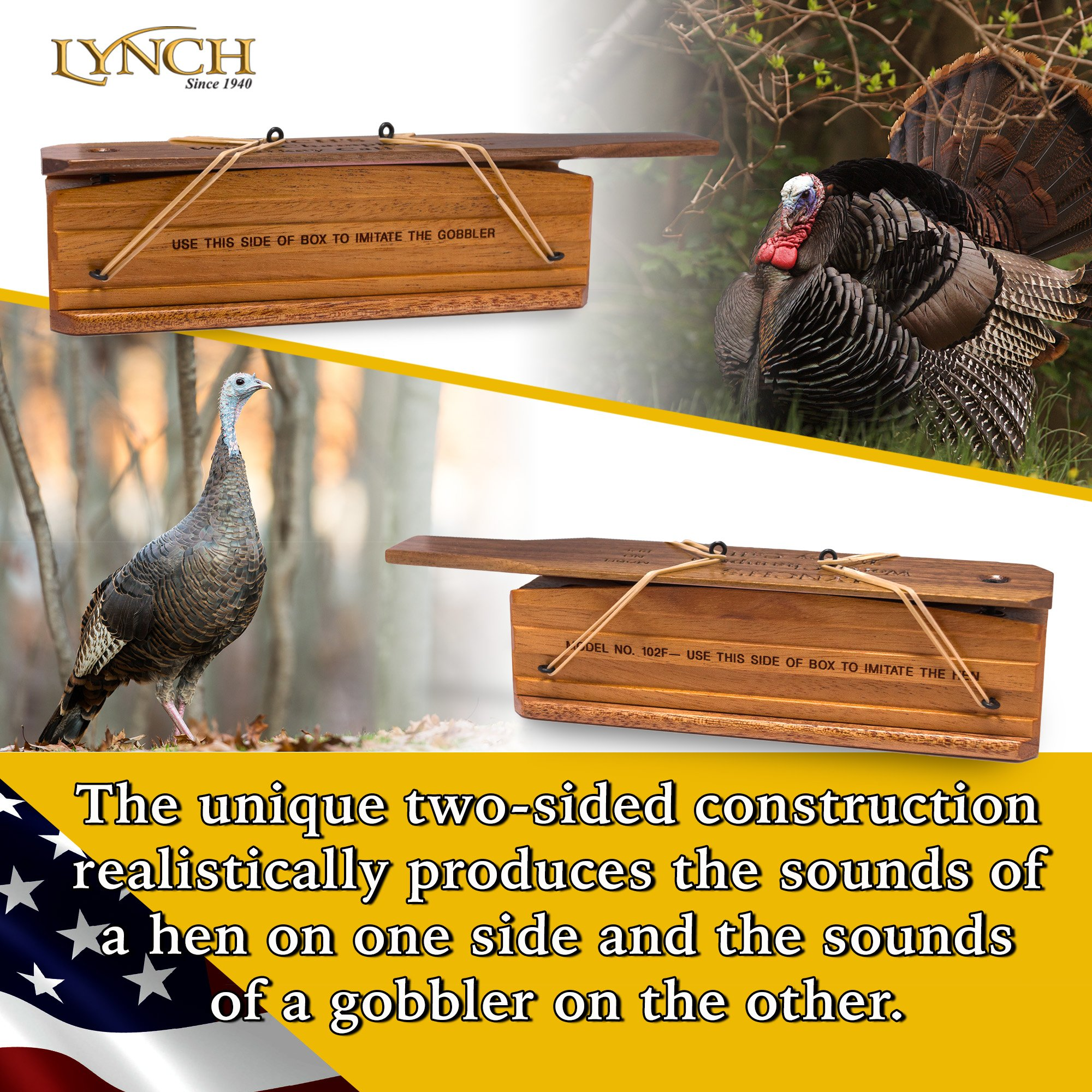 Lynch World Champion Turkey Box Call by Lynch (Image #4)