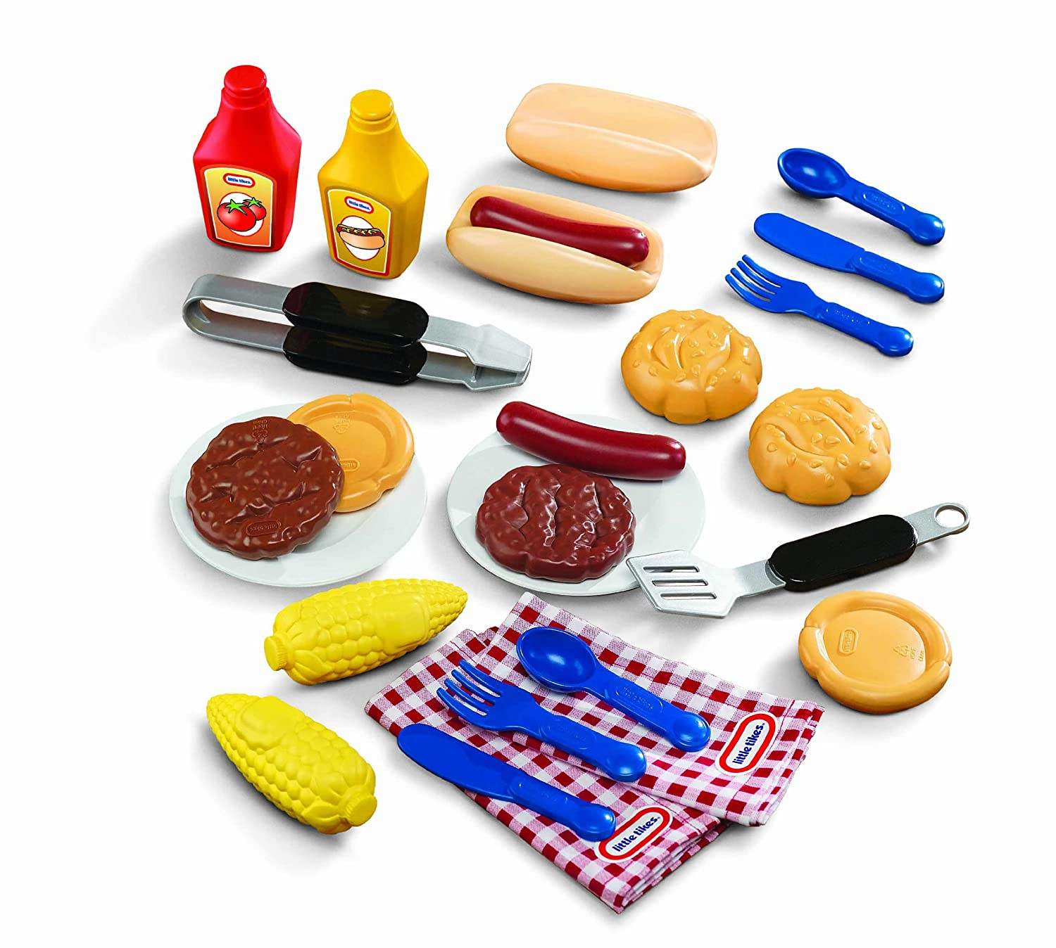 amazon com little tikes backyard barbeque grillin u0027 goodies toys