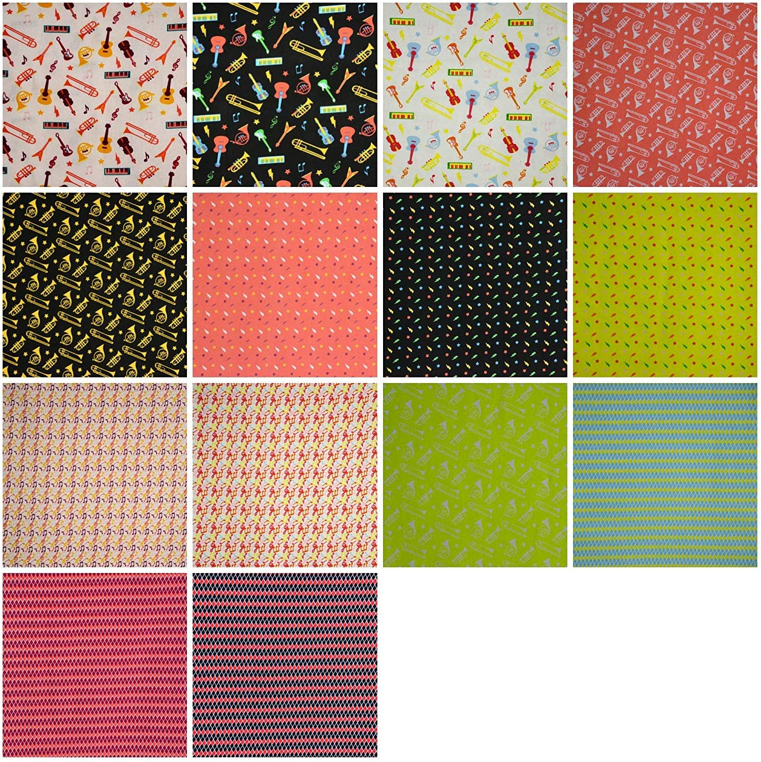 Jelly Rolls Fabric for Quilting 2.5 W x 45 L Craft 100/% Cotton Music Affair Design Pack of 20 Strips Patchwork