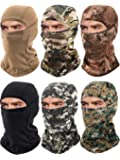 6 Pieces Balaclava Face Mask Motorcycle Windproof Camouflage Fishing Face Cover Winter Ski Mask (Grey, Black, Dark Green…