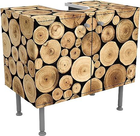 Meuble sous vasque design Homey Firewood 60x55x35cm, petit ...