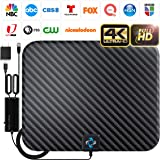 U MUST HAVE Amplified HD Digital TV Antenna Long 250 Miles Range - Support 4K 1080p and All TV's - Indoor Smart Switch Amplif