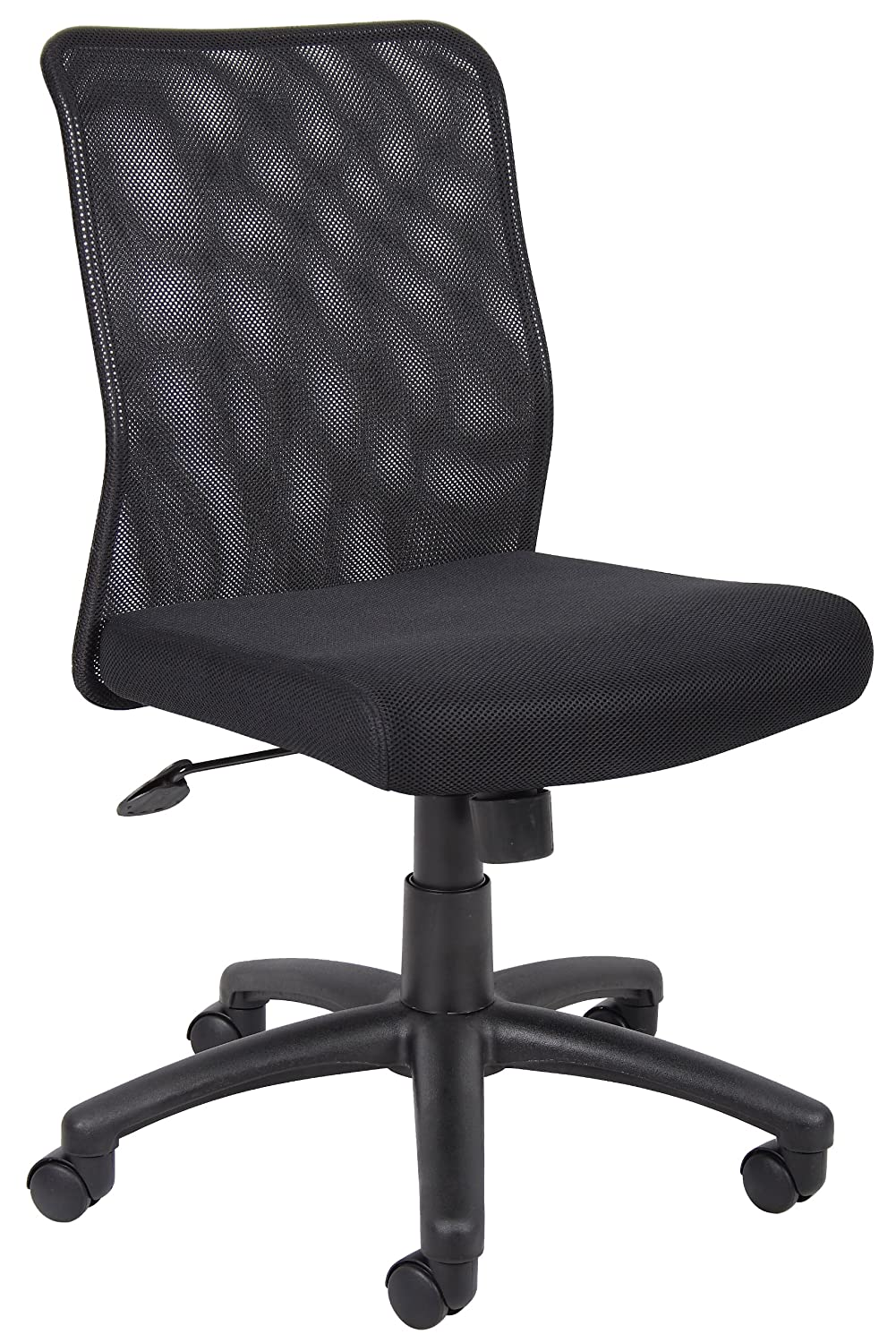 Boss Office Products B6105 Budget Mesh Task Chair without Arms in Black Norstar Office DBA Boss