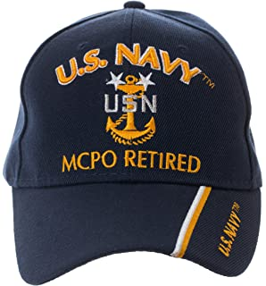 3a7d7d620b4 Artisan Owl Officially Licensed US Navy Retired Baseball Cap - Multiple  Ranks!