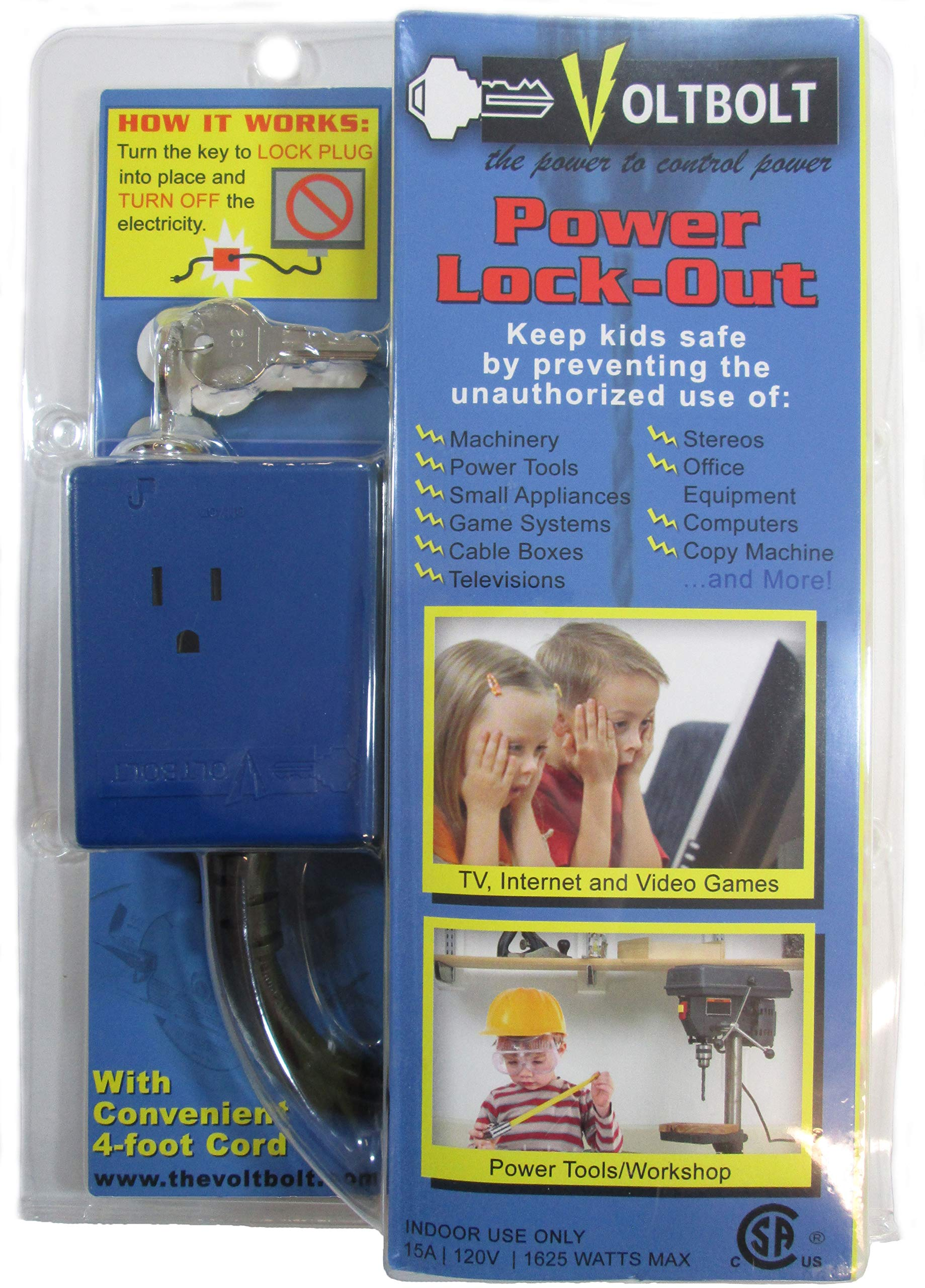 VoltBolt Power Plug Lock-Out - The Power to Control Power - Keyed Alike