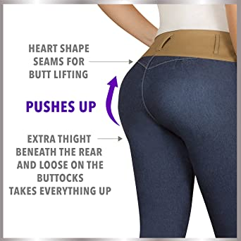 9555d3a6043 Aranza Pantalones Colombianos Levanta Cola Butt Lifting Colombian Jeans  Boot cut at Amazon Women s Jeans store