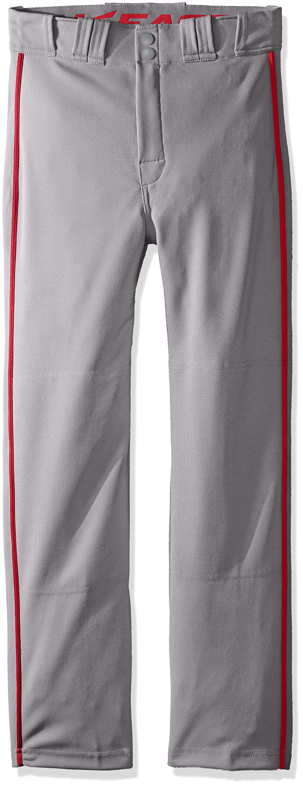 Easton Rival 2 Baseball Softball Pant | Youth | Small | Grey Red | 2020 | Double Reinforced Knee | Elastic Waistband w/ 2 Color Internal Logo | 2 Batting Glove Pockets | 100% Polyester