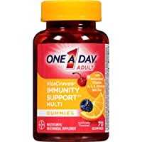 One A Day VitaCraves Immunity Support Multivitamin Gummies*, Supplement with Vitamins A, Vitamin C, Vitamin D, B6, B12, Zinc & More, 70 Count