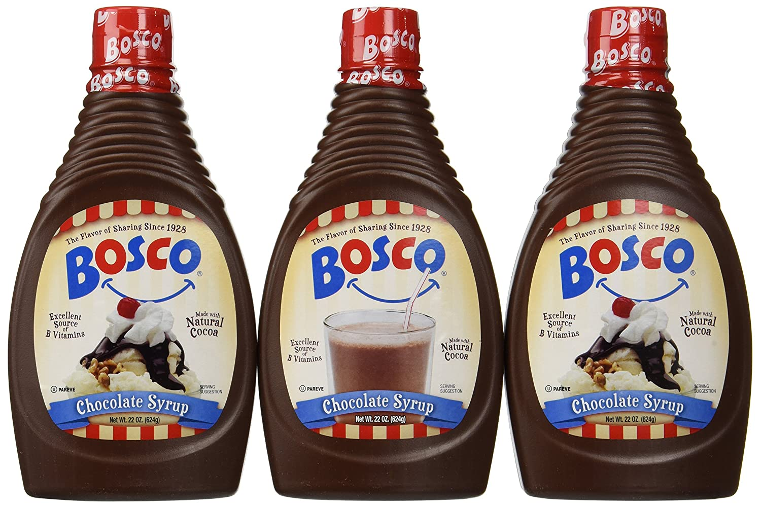 Amazon.com : Bosco Chocolate Syrup, 22-oz. squeeze bottle (Pack of ...