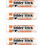 Dr Hess Udder Stick Lip Balm, Pomegranate, 4 Count