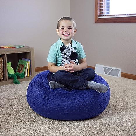 Enjoyable Filo Stuffed Animal Bean Bag Chair For Kids Large 30 Blue Creativecarmelina Interior Chair Design Creativecarmelinacom