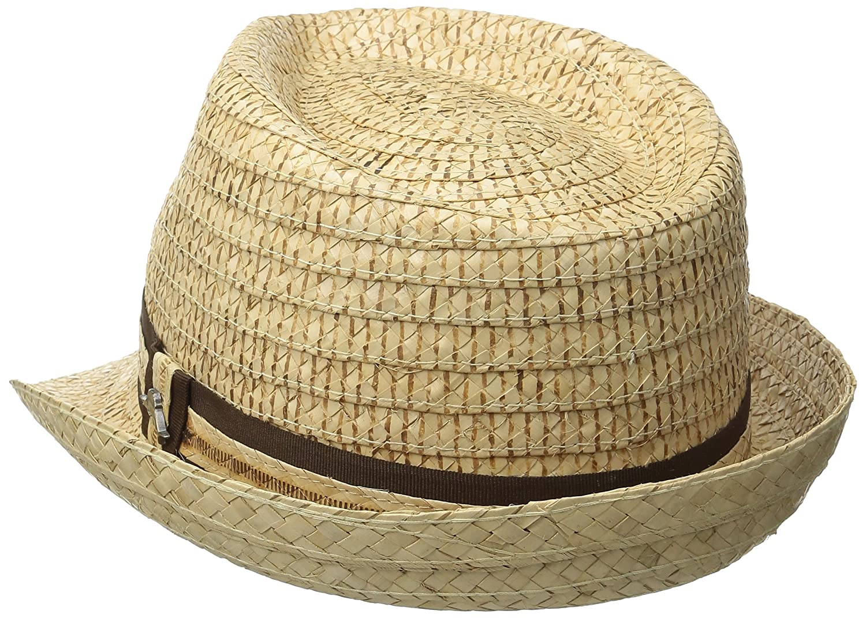 8287a3bc7f3 Tommy Bahama Men s Vent Crochet Raffia Fedora Hat at Amazon Men s Clothing  store  Tommy Bahama Hat