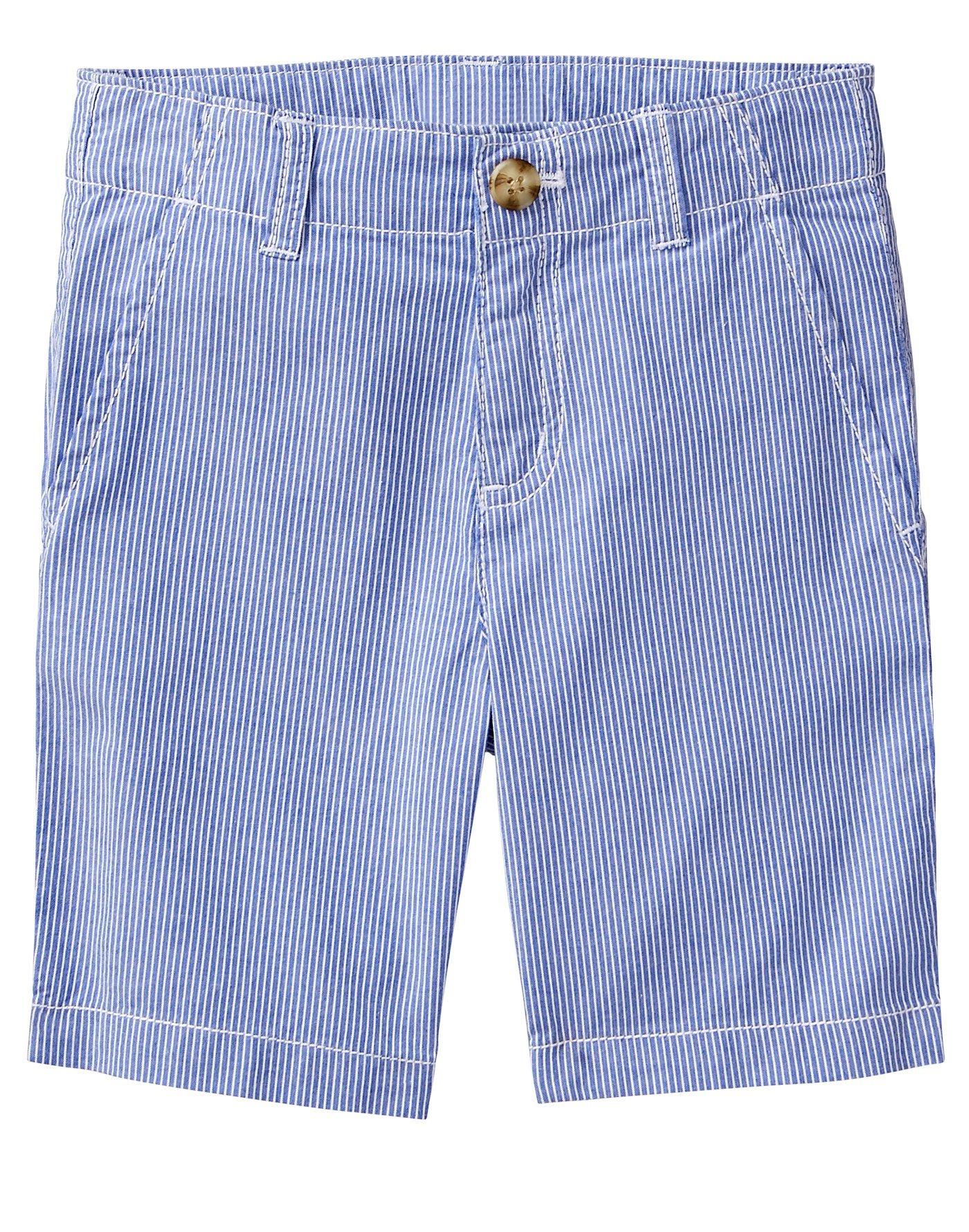 Gymboree Little Boys' Easy Shorts, Cornflower Stripe, 6